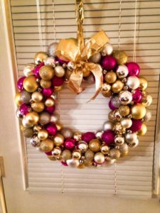 Holiday Decorating Ornament Wreath